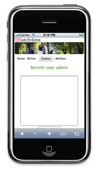 Mobiele site Match4me.be